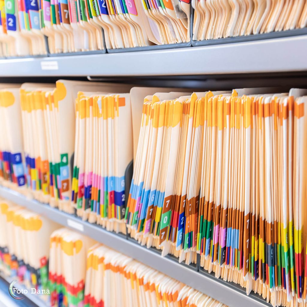 Gekleurde dossiermappen